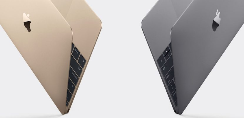 MacBook dorado y gris espacial