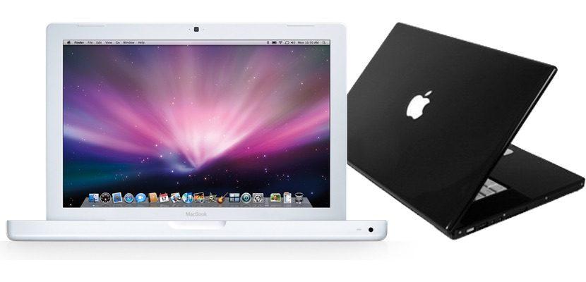 MacBook blanco de policarbonato