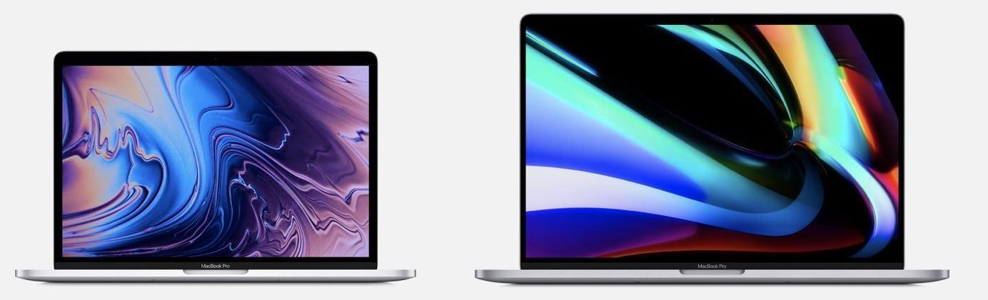 macbook pro 13 vs 16