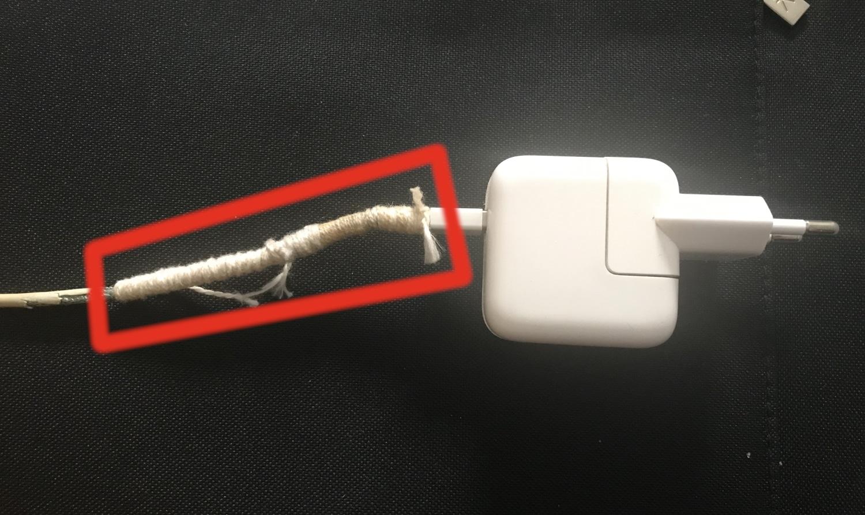 cargador macbook reparado